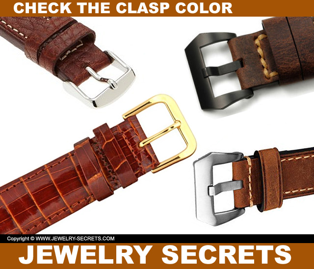 Make Sure The Clasp Color Matches Your Watch Case