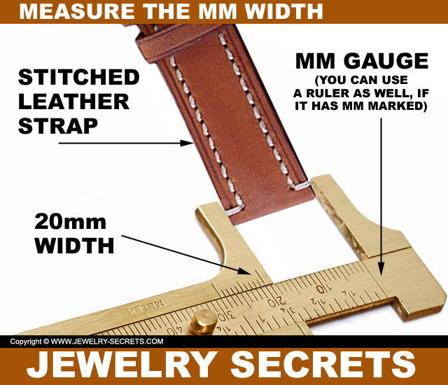 Measure The MM Width Of Your Watch Band