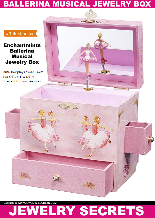 The Best Selliing Ballerina Musical Jewelry Box