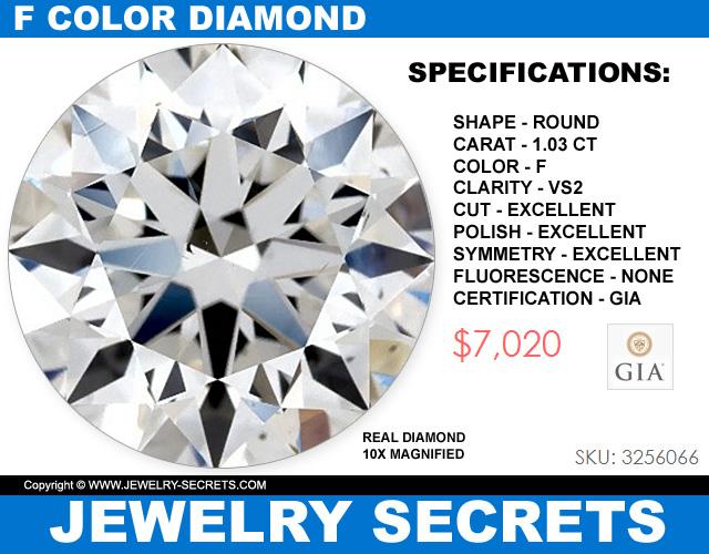 Beautiful Round Brilliant Cut Diamond With F Color