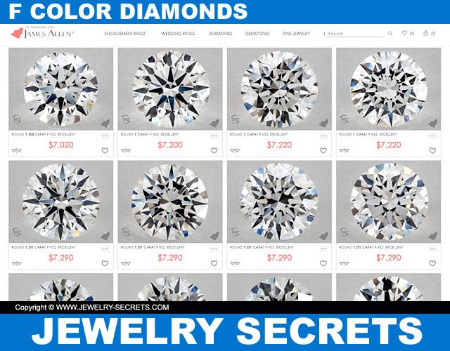 F Color Diamonds