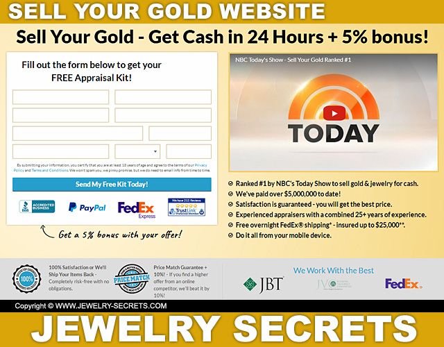 Sell Your Gold Website