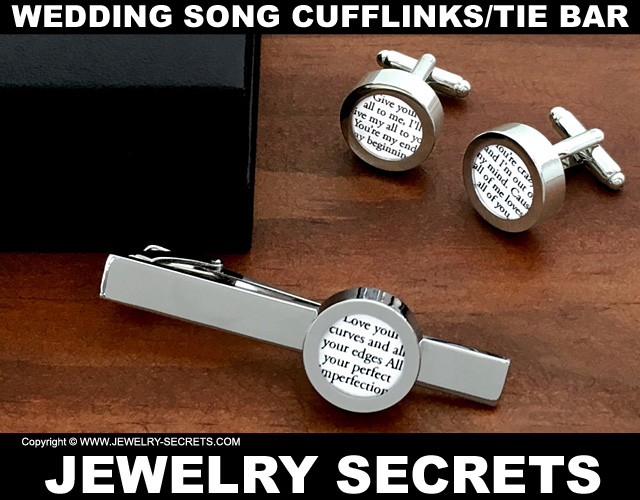 Wedding Song Cufflinks and Tie Bar