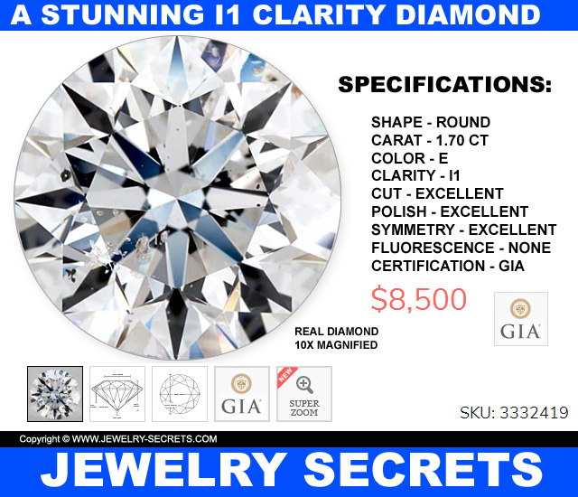 A Stunning Low Quality I1 Clarity Diamond