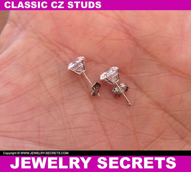 Classic CZ Stud Earrings