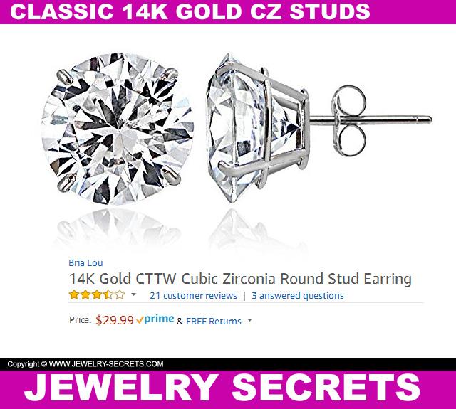 Classic CZ Studs 14K Gold