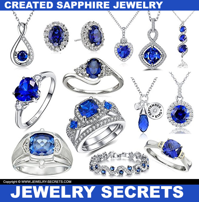 Created Sapphire Jewelry