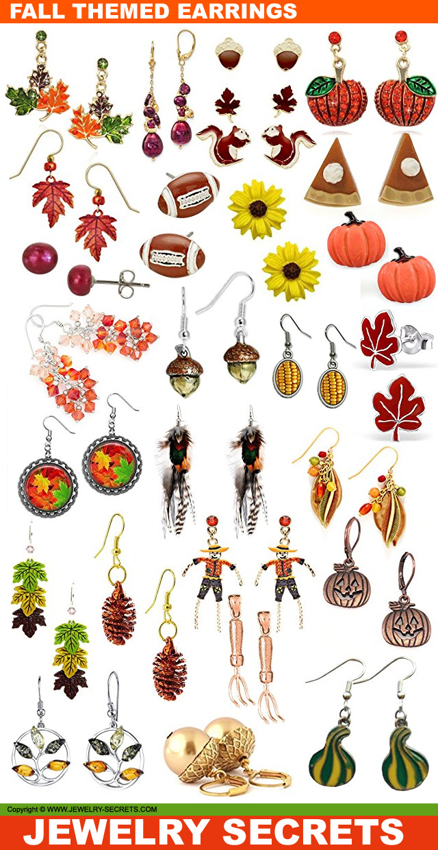 Fall Autumn Themed Earrings