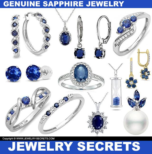 Genuine Sapphire Jewelry