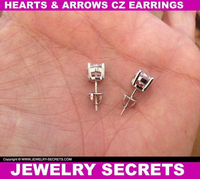 Hearts And Arrows CZ Earrings