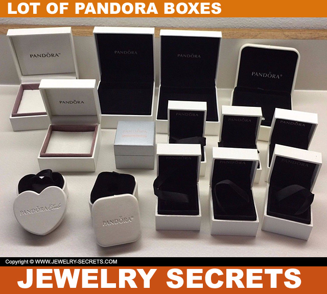 Huge Lot Of Empty Pandora Jewelry Boxes Selling On Ebay