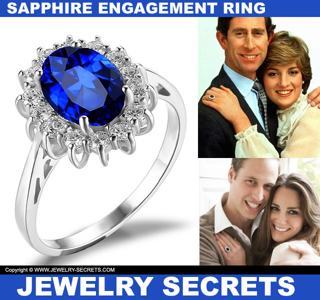 Princess Diana Kate Middleton Sapphire Engagement Ring