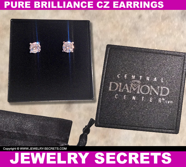 Pure Brilliance CZ Stud Earrings