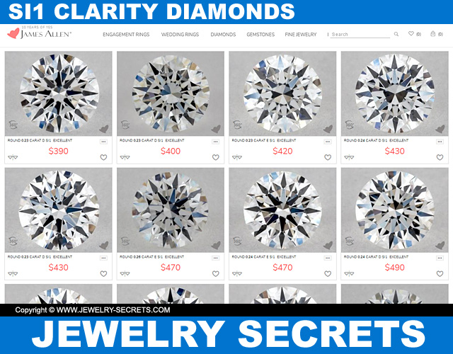 SI1 Clarity Diamonds