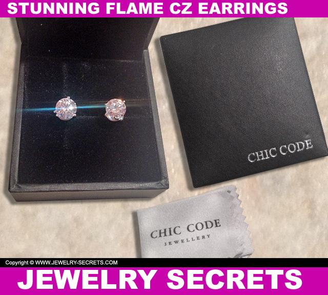 Stunning Flame CZ Earrings