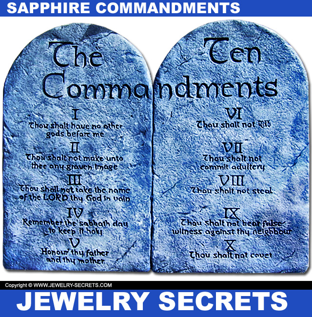 Ten Commandments Made Out Of Sapphire