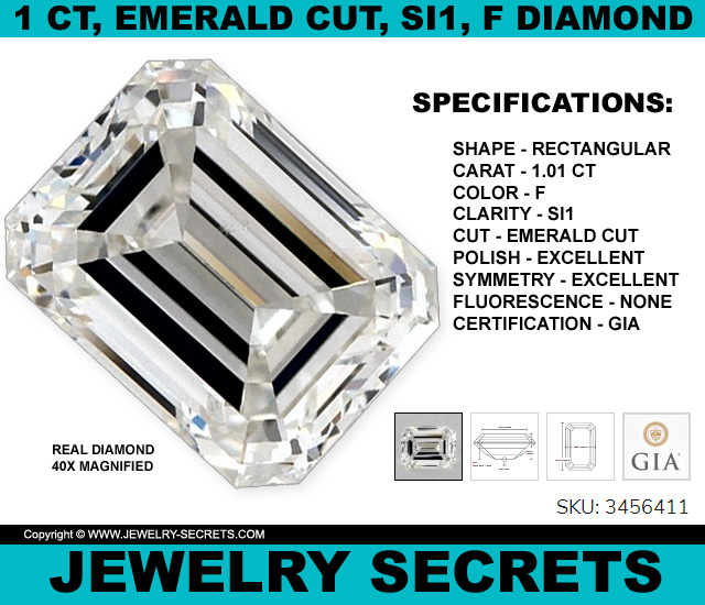 Emerald Cut Diamond SI1 F Steal