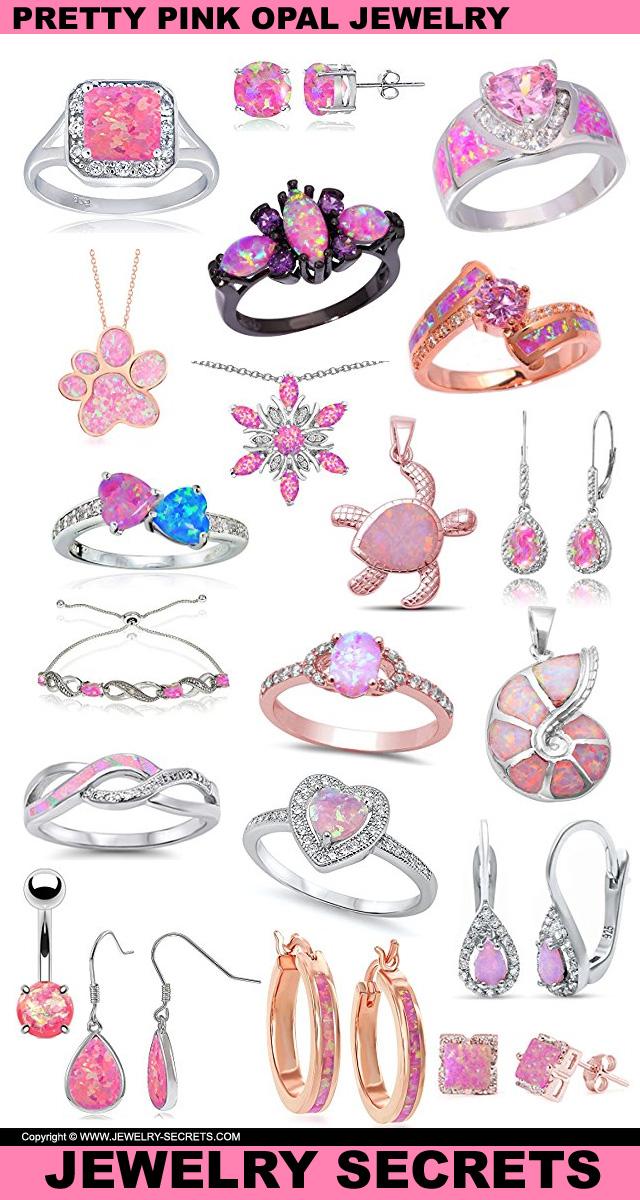 Pretty Pink Opal Jewelry
