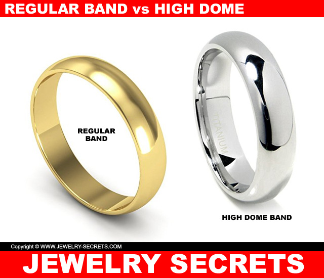 Regular Ring vs Thick High Dome Comfort Fit Band