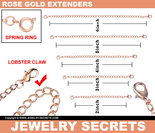 Rose Gold Chain Necklace Extenders