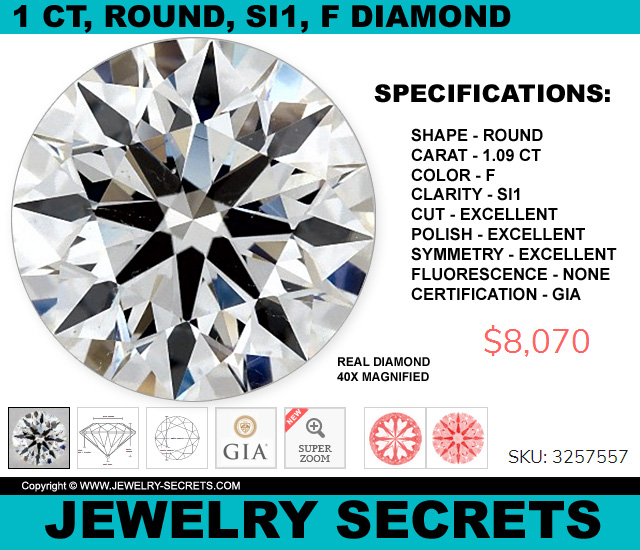 Round Brilliant Cut Diamond SI1 F