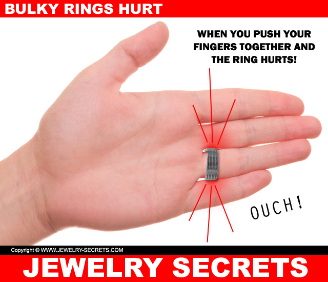 Thick High Dome Bulky Rings Hurt