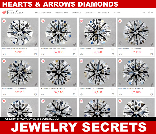 True Hearts Hearts And Arrows Diamonds