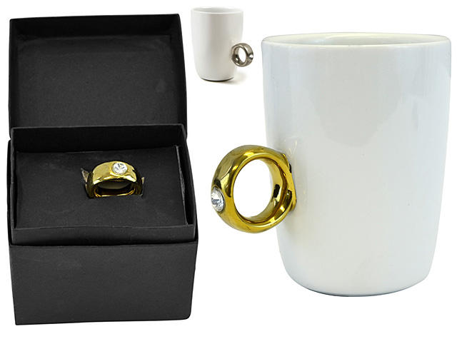 2 Carat Solitaire Ring Mug Cup