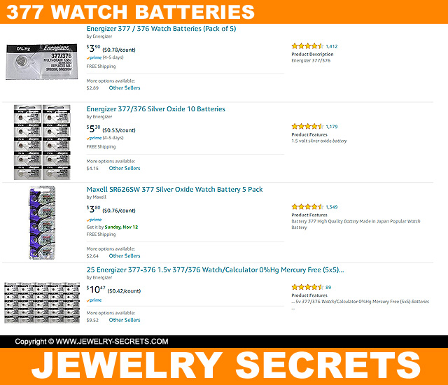377 Watch Battery Search