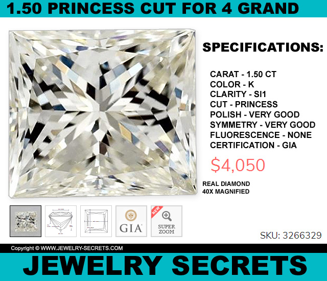 A Huge 150 Princess Cut CHEAP 4 Grand