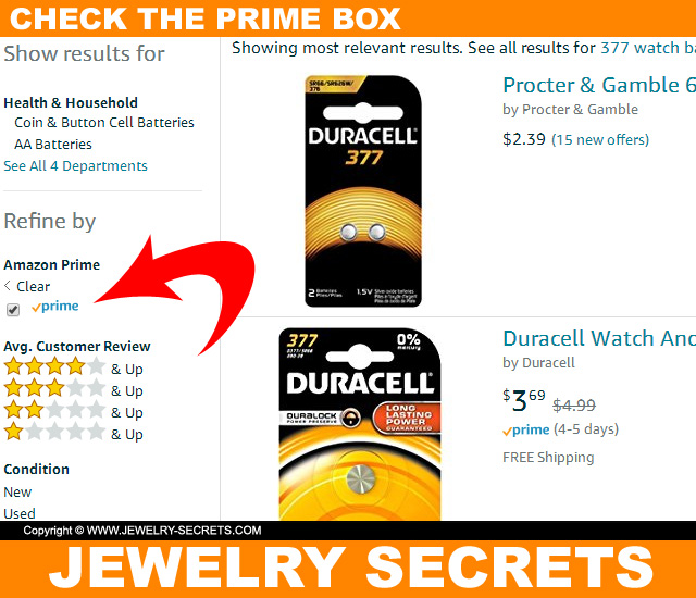 Check Amazon Prime For Cheap Watch Batteries
