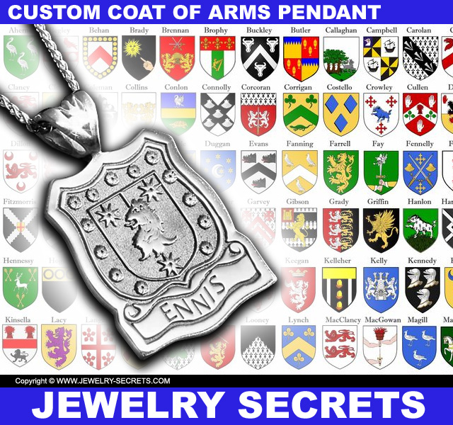 Custom Coat Of Arms Pendant