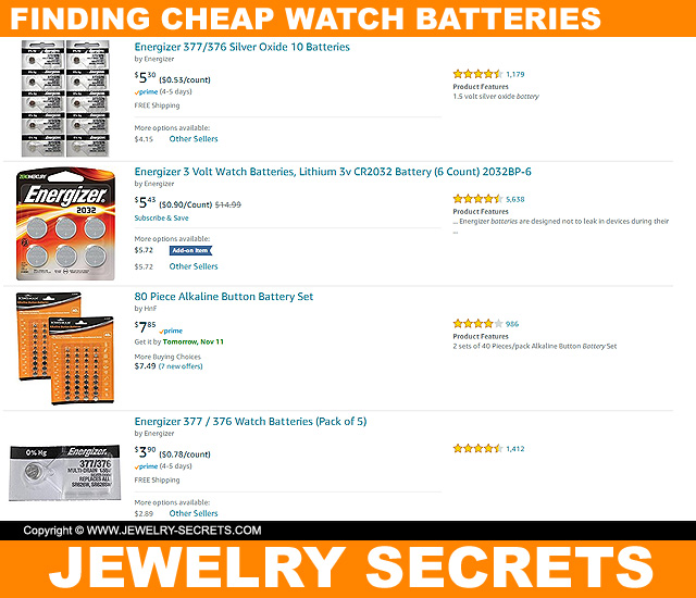 Finding Cheap Watch Batteries