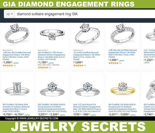 GIA Diamond Engagement Rings On Amazon
