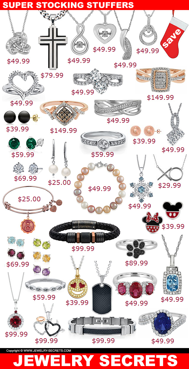 Super Jewelry Stocking Stuffers 2017