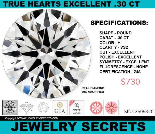 The Cheapest True Hearts Arrows Excellent Diamond
