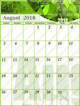 Free August 2018 Gemstone Calendar