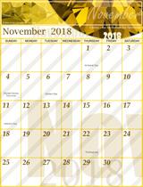 Free November 2018 Gemstone Calendar