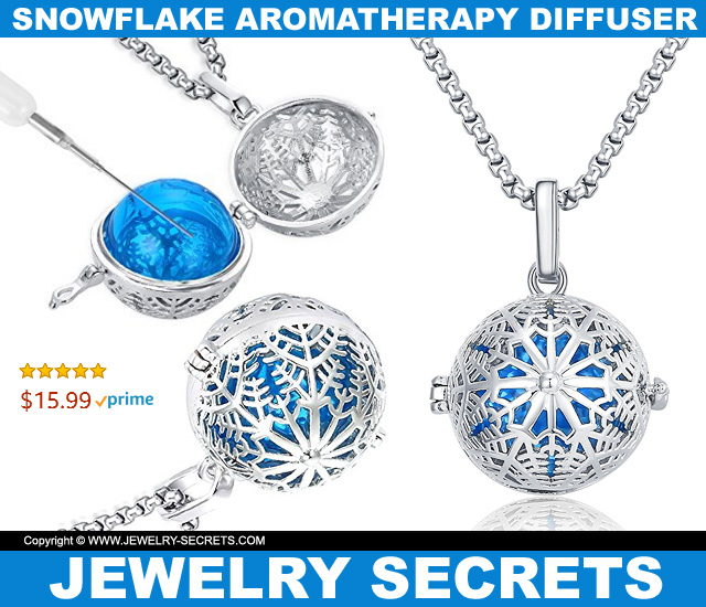 Snowflake Aromatherapy Essential Oil Diffuser Pendant
