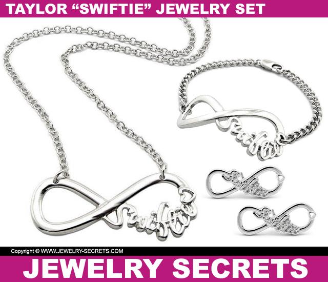 Taylor Swift Swiftie Jewelry Necklace Bracelet Earring Combo Set