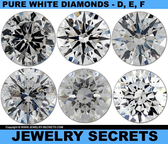 All Diamonds Are Pure White Color Diamonds