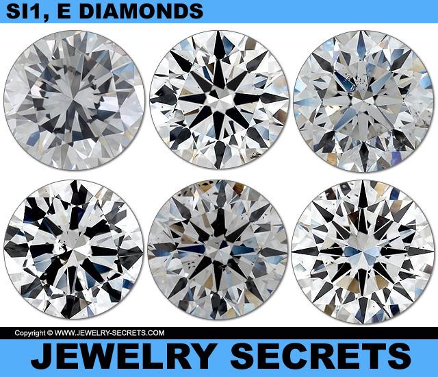 All Diamonds Are SI1 Clarity E Color Diamonds