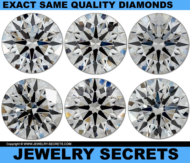 Exact Same Quality Diamonds VS1 G True Hearts