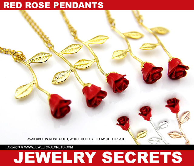 Red Rose Pendants For Valentines Day 2020