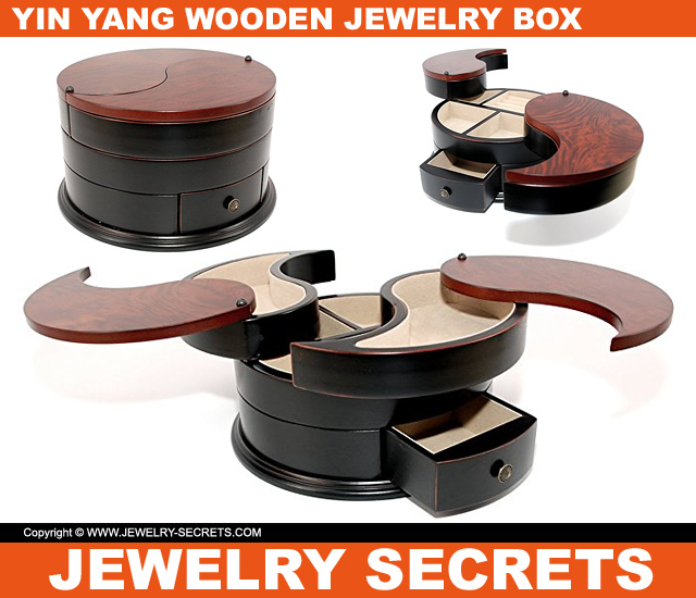 The Yin Yang Wooden Jewelry Box