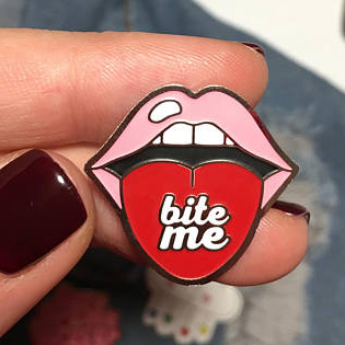 Bite Me Brooch Pin