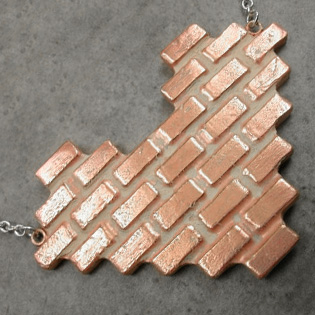 Brick Wall Heart Necklace