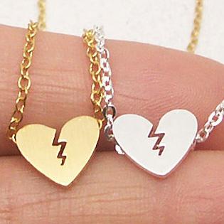 Broken Heart Necklace Pendants