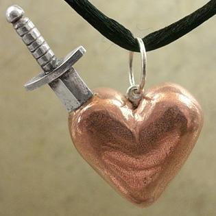 Dagger Through Heart Pendant