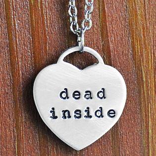 Dead Inside Heart Pendant